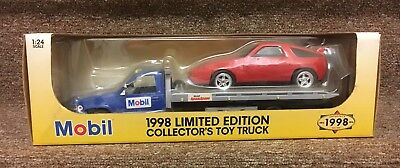 Mobil 1998 Limited Edition Collector's Toy Flatbed Truck w Car 1:25 Scale NIB