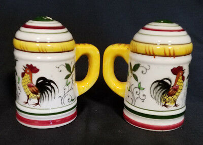 Vintage Ucago Ceramic Salt And Pepper Set