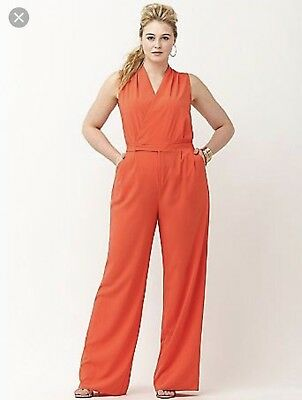 55cba4e4c22 LANE BRYANT 6TH And lane Orange jumpsuit Sz28 New  tag -  25.00 ...