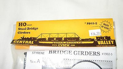 Central Valley Model Works HO scale Steel Bridge Girders Kit #1902-5 New