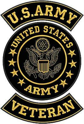 """US ARMY WOMAN/'S ARMY CORPS VETERAN PATCH 4/""""/& 3/"""" GLUE ON REPRO NEW A127"""
