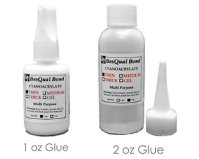 Dental Lab Adhesive Glue - Medium/Thick/Thin - 1 oz & 2 oz