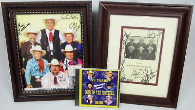 Sons of the Pioneers Autographed Signed Program Photo CD Concert Ticket