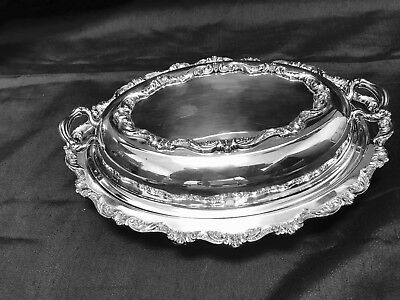 Poole Silver Co. Silver Plate Double Vegetable Bowl  # 5005