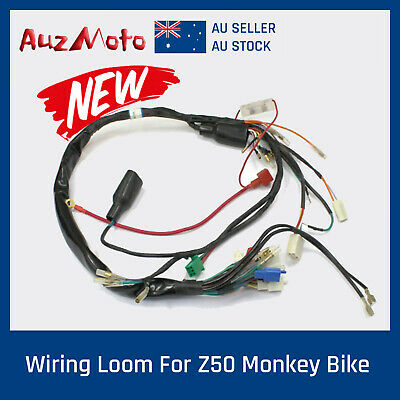 Marvelous Lights Wire Wiring Harness Wires For Honda Monkey Z50 50Cc Z50J Wiring Digital Resources Indicompassionincorg