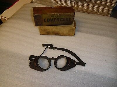 Antique Coverglas Safety Eye Glasses Vintage Goggles Steampunk