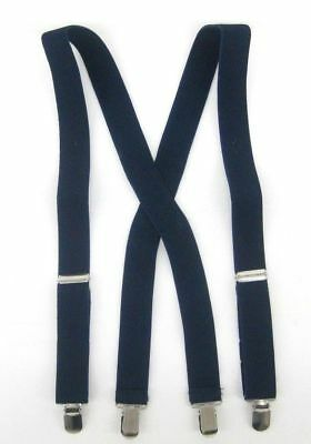 Boys Suspender Kids Children Toddler X Back Clip on Elastic Suspenders New