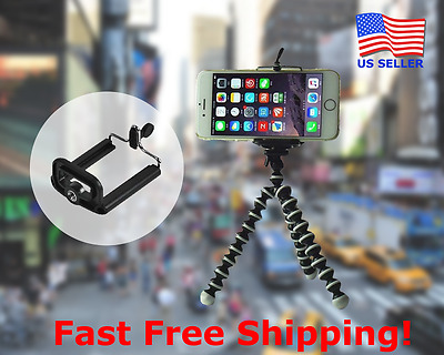 Mini-Octopus Flexible Tripod Stand for iPhone 6 6S 8 Plus X Samsung Galaxy Note