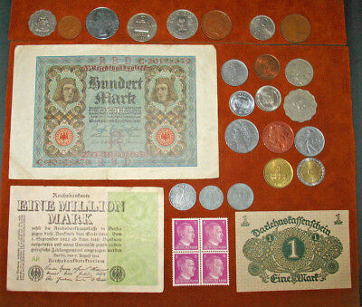 German Reich Coins With Swastikas! Germany Stamps & Banknotes! World Coins! #69