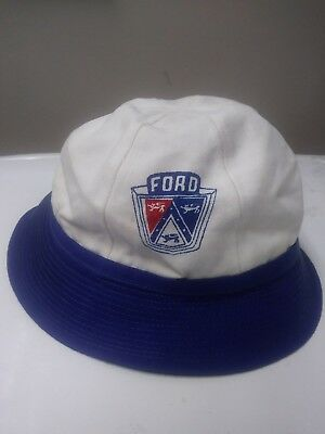 VINTAGE 1950S 60S FORD Automobiles bucket hat CAR CLUB Large ... f8b1db649d6