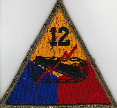 WWII US Army 12th Armored Division Shoulder Patch