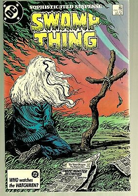 1986 DC-Swamp Thing #55-Earth to Earth-75 Cent Issue-Script Alan Moore-VF
