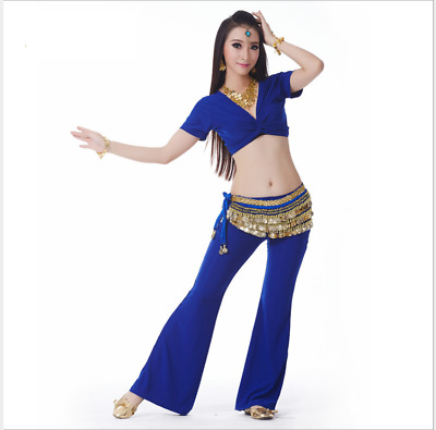 NEW Short Sleeves Practice Blouse Top Belly Dance Costumes Practice Dancewear