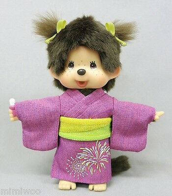 Monchhichi 2016 Summer Yukata MCC S Size Girl Plush ~~ FREE SHIP Worldwide ~~