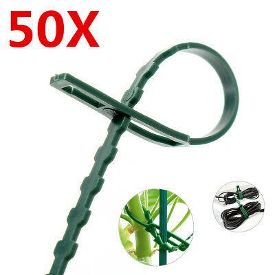 50Pcs Garden Plastic Ties Plant Cable Tree Climbing Support Adjustable Reusable