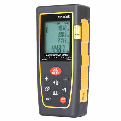 100M / 328ft Digital LCD Laser Distance Meter Range Finder Measure Tape Tool