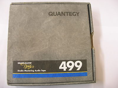 """QUANTEGY Grand Master Gold 499  2"""" 2500' 760m 10.5"""" mastering magnetic tape"""