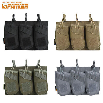 Molle Magazine Pouch Triple Stack Mag Holder Bag Tactical Military Hunting Nylon