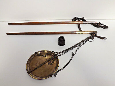 Antique 19th Century Qing Chinese Scales With Goverment Calibration Stamps