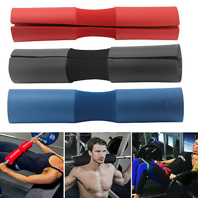 Foam Padded Barbell Bar Cover Pad Weight Lifting Shoulder Back Support 3 Color