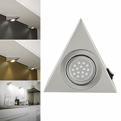 220V Led Mains Kitchen Under Cabinet Cupboard Triangle Light Kit Cool Warm White