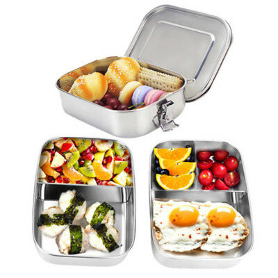 Stainless Steel Custom Bento Lunch Box Case Food Containers Picnic Home AU