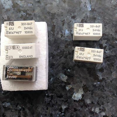5 x 24v dc PCB Mount Non-Latching Relay Mixed