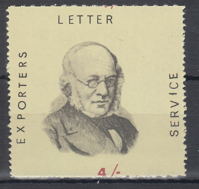 1971 Exporters Letter Service Rowland Hill 4/- MNH; Postal Strike