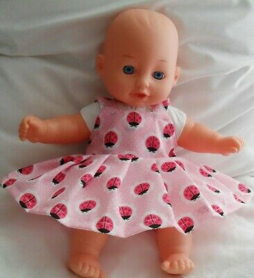 "12"" Handmade Pinny Dress Dolls Clothes Handmade Fit 30Cm Doll"