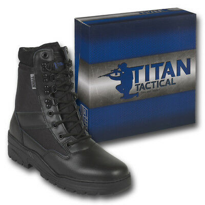 Patrol Combat Boots Black 50/50 Leather Tactical Cadet Security Military Police
