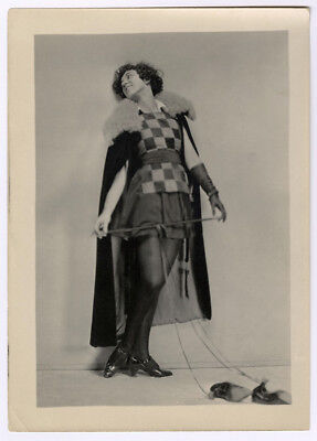 1920s Jazz-Age Charles Sheldon Fox Shoes Advertising Photograph Cloaked Flapper