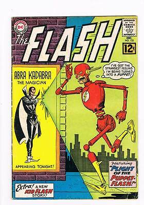 Flash # 133 The Plight of the Puppet-Flash !  grade 4.5 scarce book !!