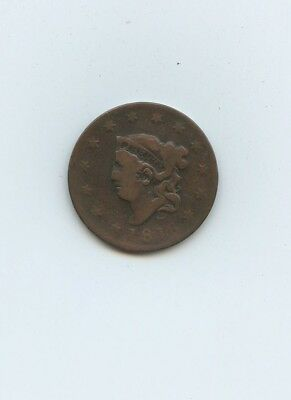 1816 Coronet Head Large Cent - VG-F - #14047