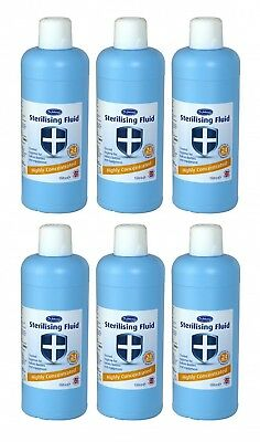 Dr Johnson's Highly Concentrated Sterilising Fluid 1 Litre x6 (6 Litres)