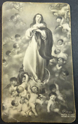 Old Blessed Assumption Of Virgin Mary Holy Card Andachtsbild Santini Cc1728