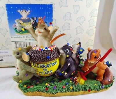Charming Tails Figurine Friendship Is The Reason To Celebrate