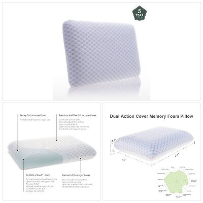 Memory Foam Pillows For Sleeping Cervical Neck pain Cooling Gel Hypoallergenic A