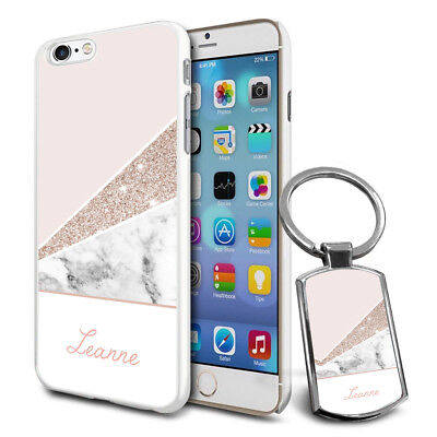 Personalised Marble Design Phone Case Cover & Keyring for Various Phones - 778