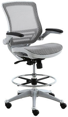 Harwick Evolve All Mesh Heavy Duty Drafting Chair In Platinum Finish (NIB)