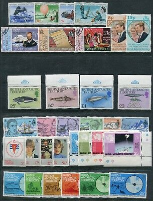 Weeda British Antarctic Territory 20//116 VF MNH/used 1969-1982 sets CV $33.60
