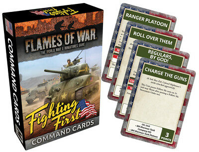 Flames Of War: Fighting First Command Cards