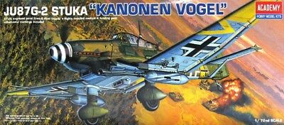 "Academy JU-87G-2 Stuka ""Cannon Vogel"" 1/72 Model Kit"