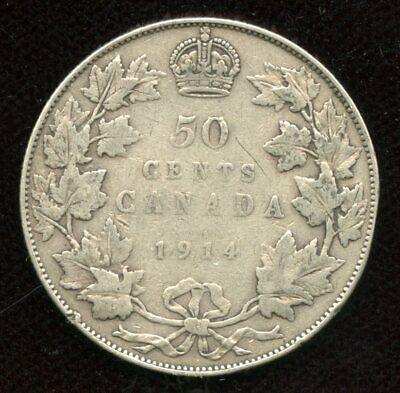 1915 Canada 25¢ - ICCS F-15 25-Cents Key Date