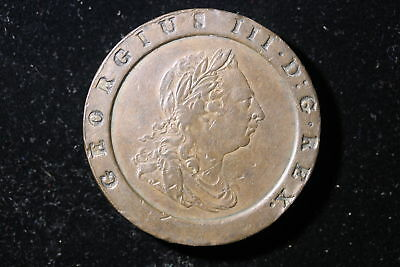 1797 Great Britain. 2 Pence. Cart wheel. Very Collectible Grade.