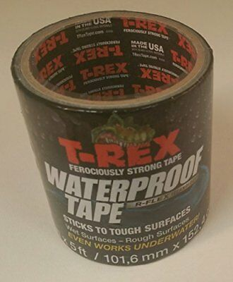 "T-REX 241309 Ferociously Strong Tape Waterproof Backing 1958966 1.88/"" 12 Yards"