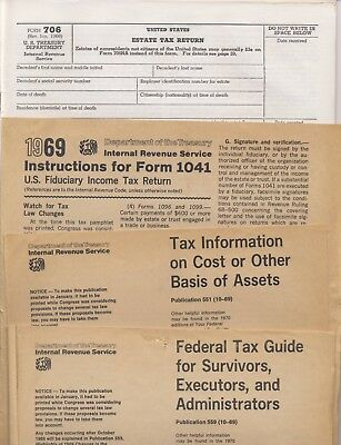1960s Federal Forms Instructions Treasuryestate Tax Securities