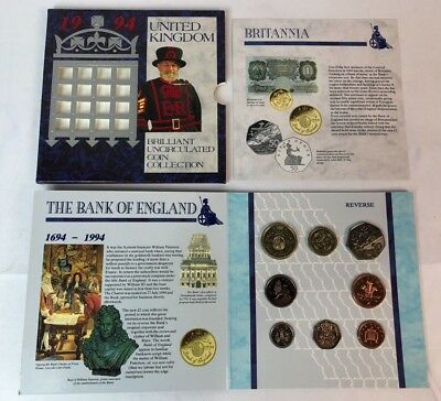 1994 Europe / Great Britain UK Brilliant Uncirculated Coin Set UNC