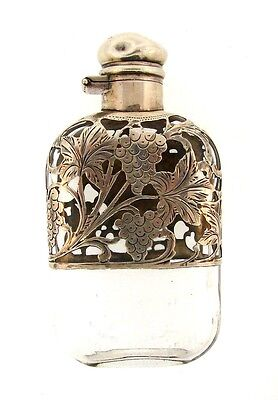STUNNING Victorian Sterling Silver & Glass Perfume Bottle Circa 1900s
