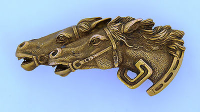 c.1970's GUCCI BRONZE HORSE MOTIF BELT BUCKLE - Rare! Collectable! Unique Gift!