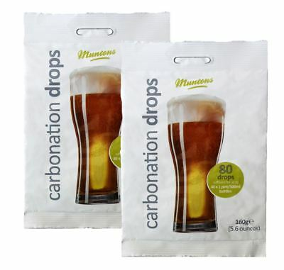 2 x Packs of 80 MUNTONS Carbonation Drops - Priming Glucose Sugar Beer Cider